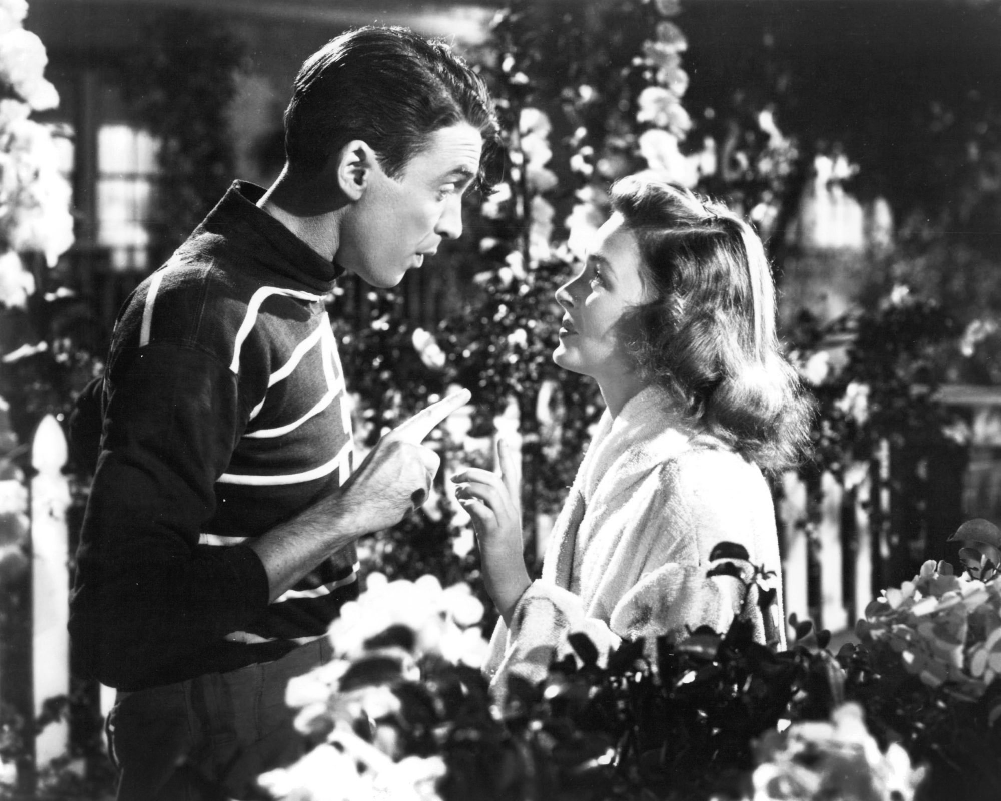 James Stewart and Donna Reed in It's A Wonderful Life