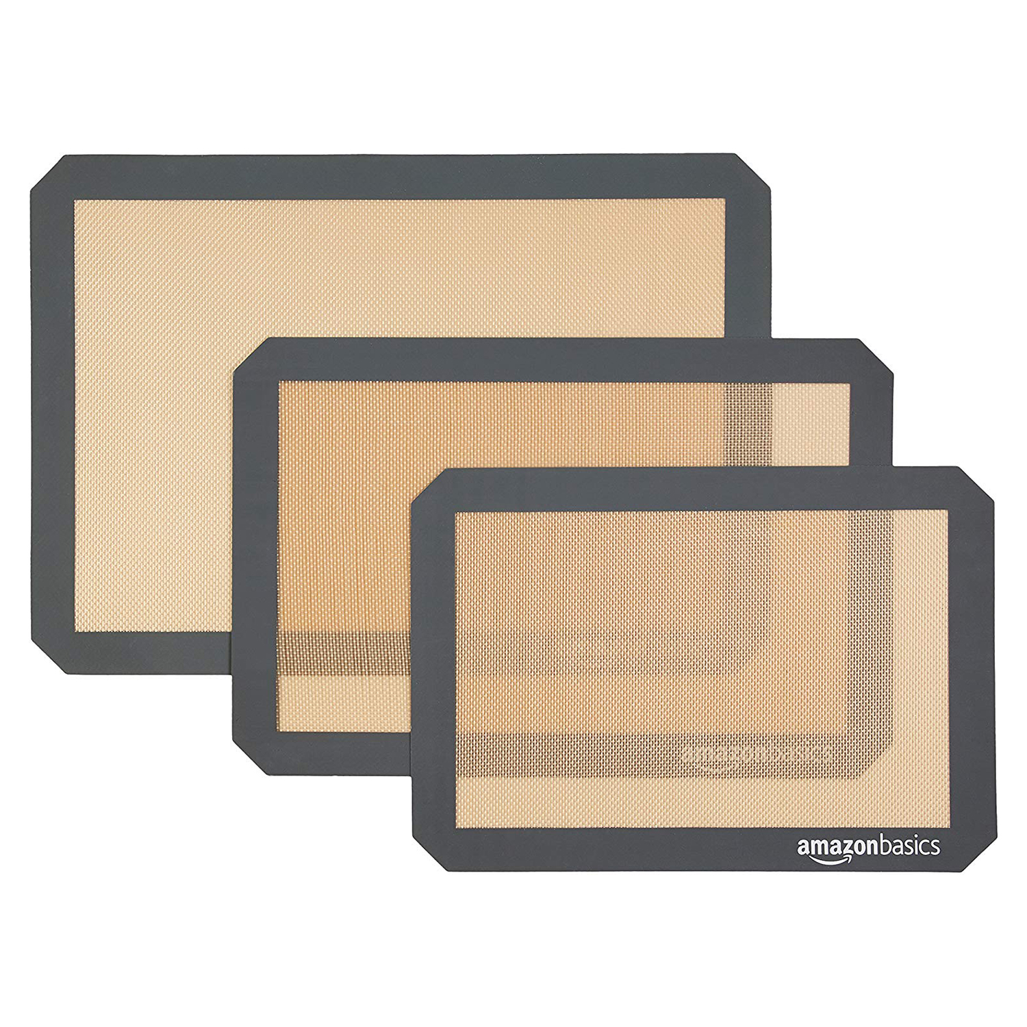 AmazonBasics Silicone Baking Mat Sheet, Set of 3