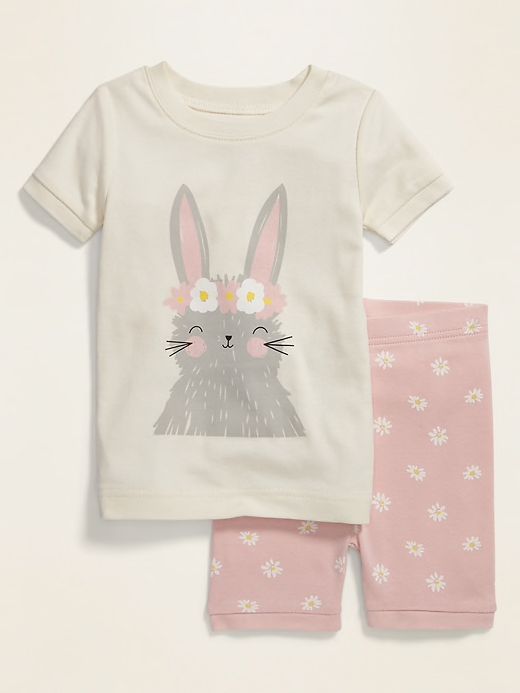 Bunny Graphic Pajama Set