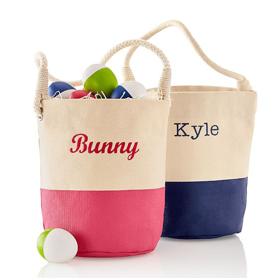 Dipped Canvas Bunny Bucket