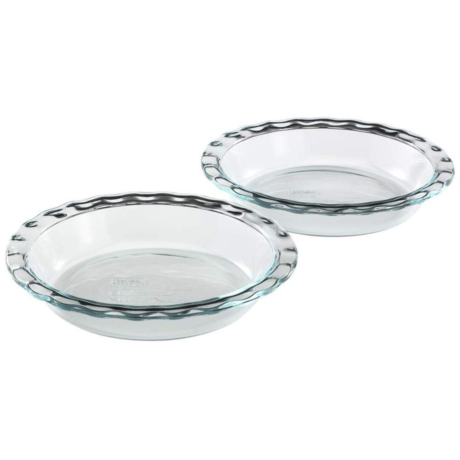 Pyrex Easy Grab Glass Pie Plate 2-Pack