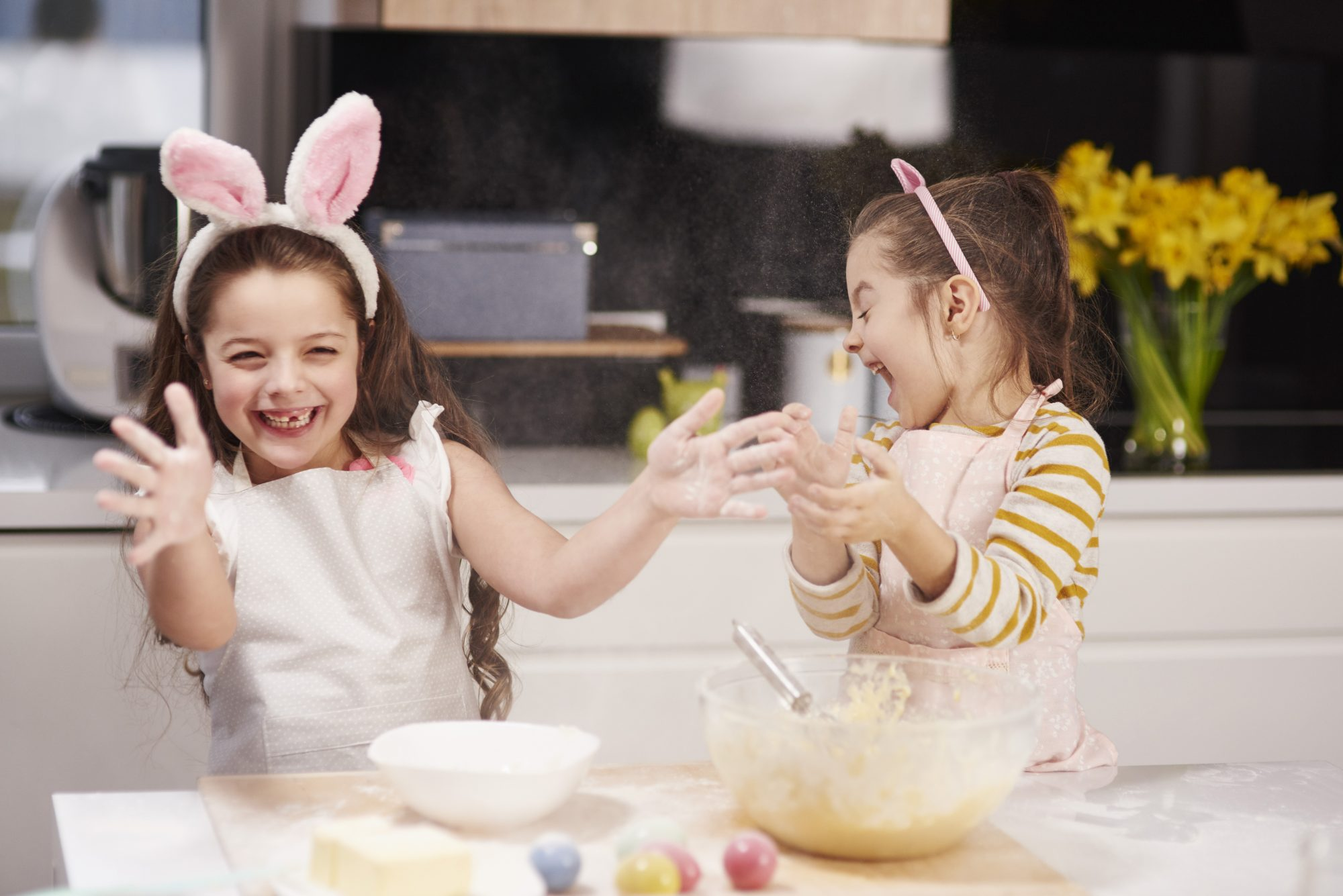 Easter craft sisters