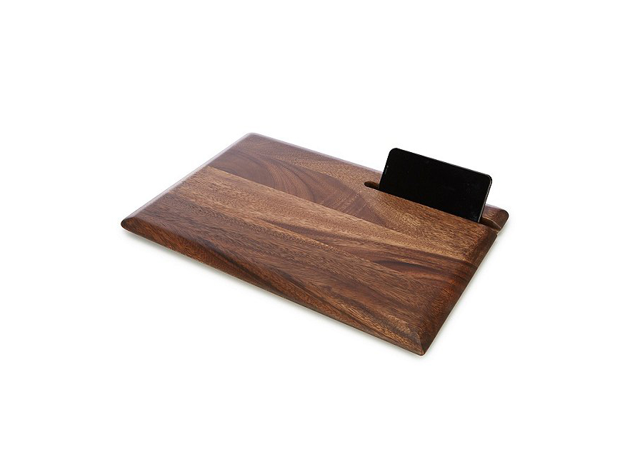 Acaia Wood Cutting Board with Phone Slot