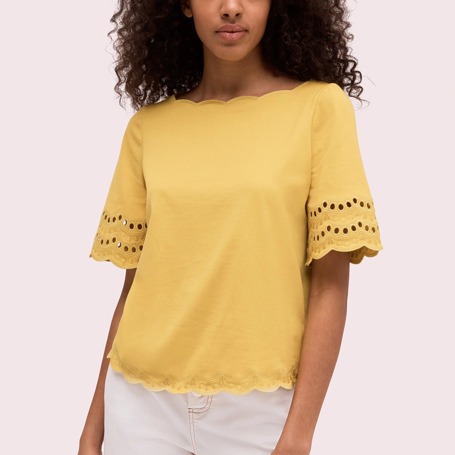 Kate Spade Scallop Border Knit Tee