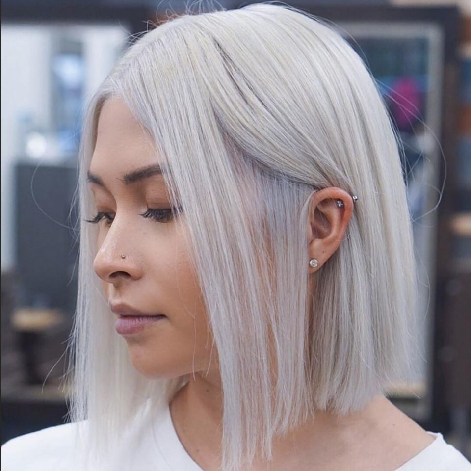 Razor-Sharp Long Bob