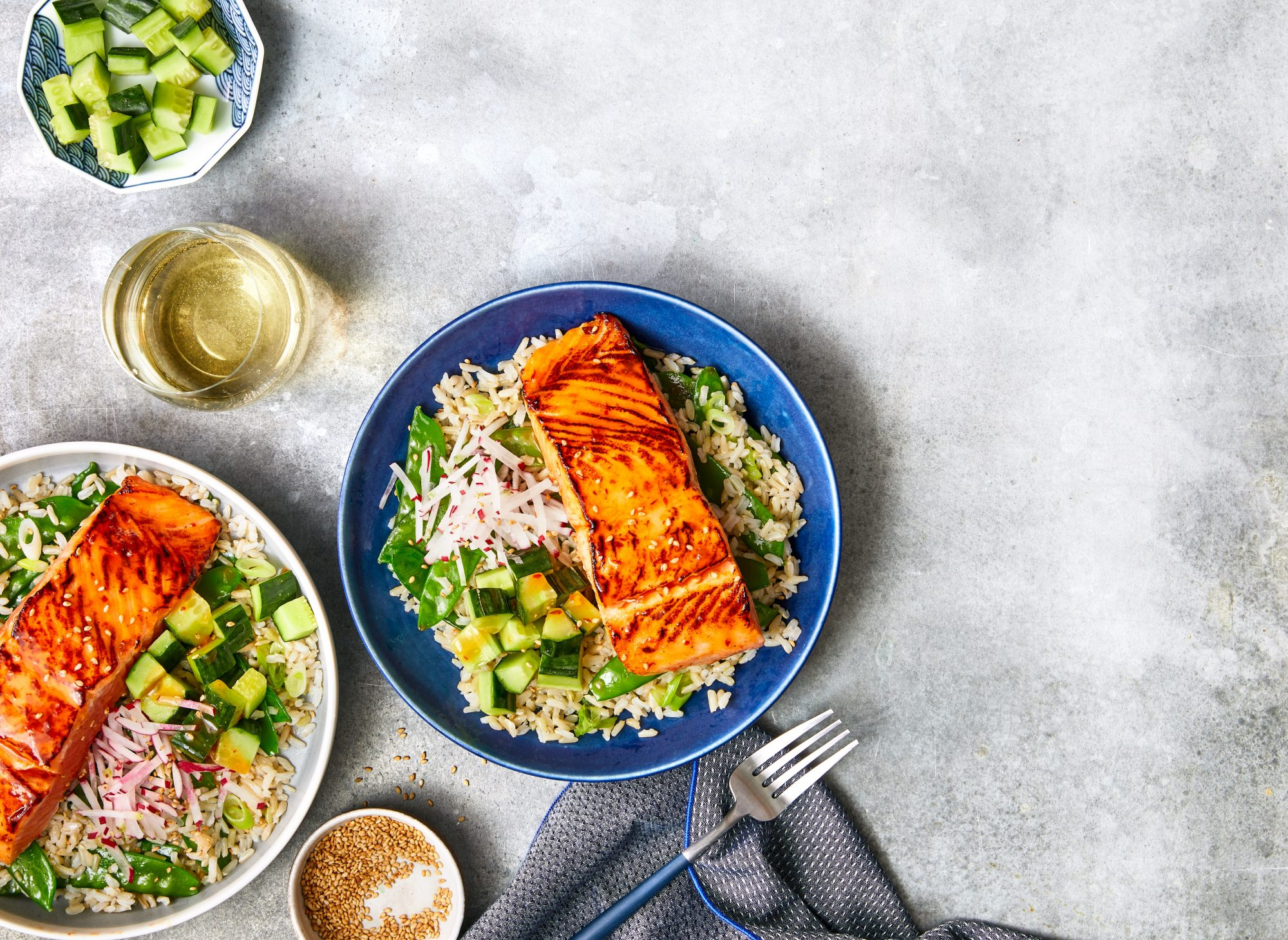 Sweet-and-Spicy Salmon Rice Bowl