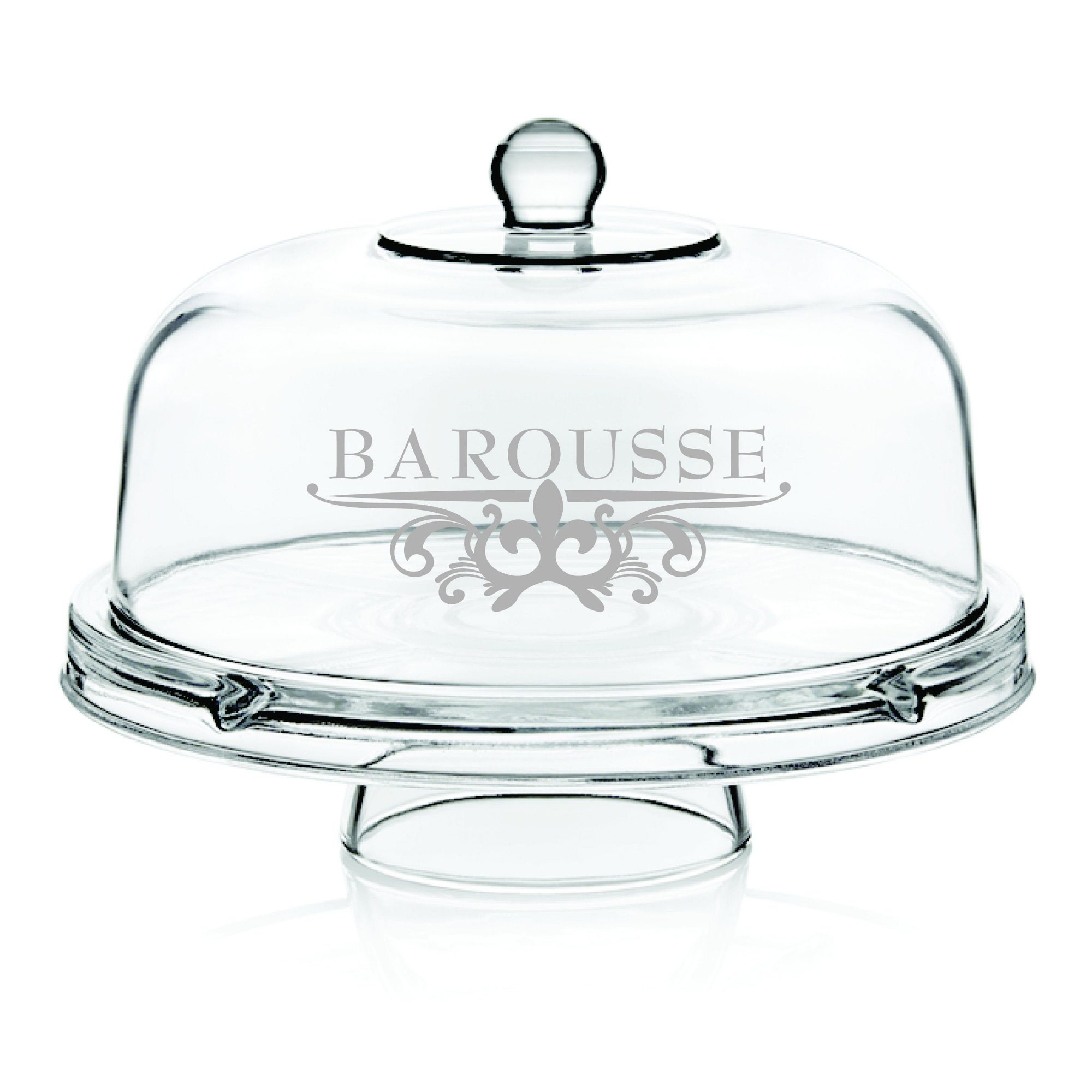 Etched Glass Cake Dome