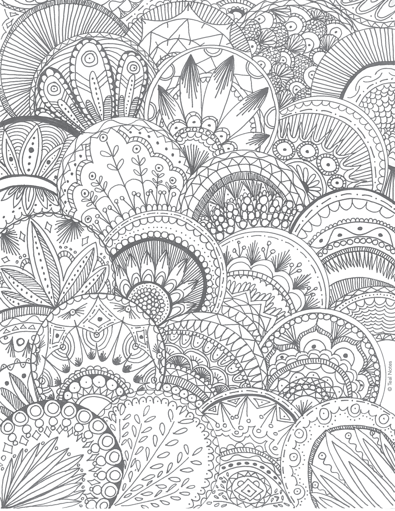 Geometric Pattern Coloring Page by Teal Notes