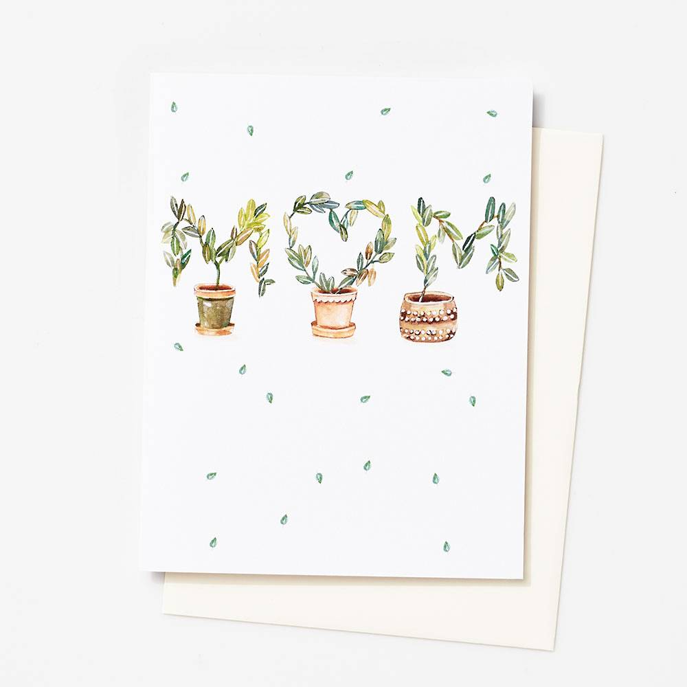 Greenery Mothers Day Card