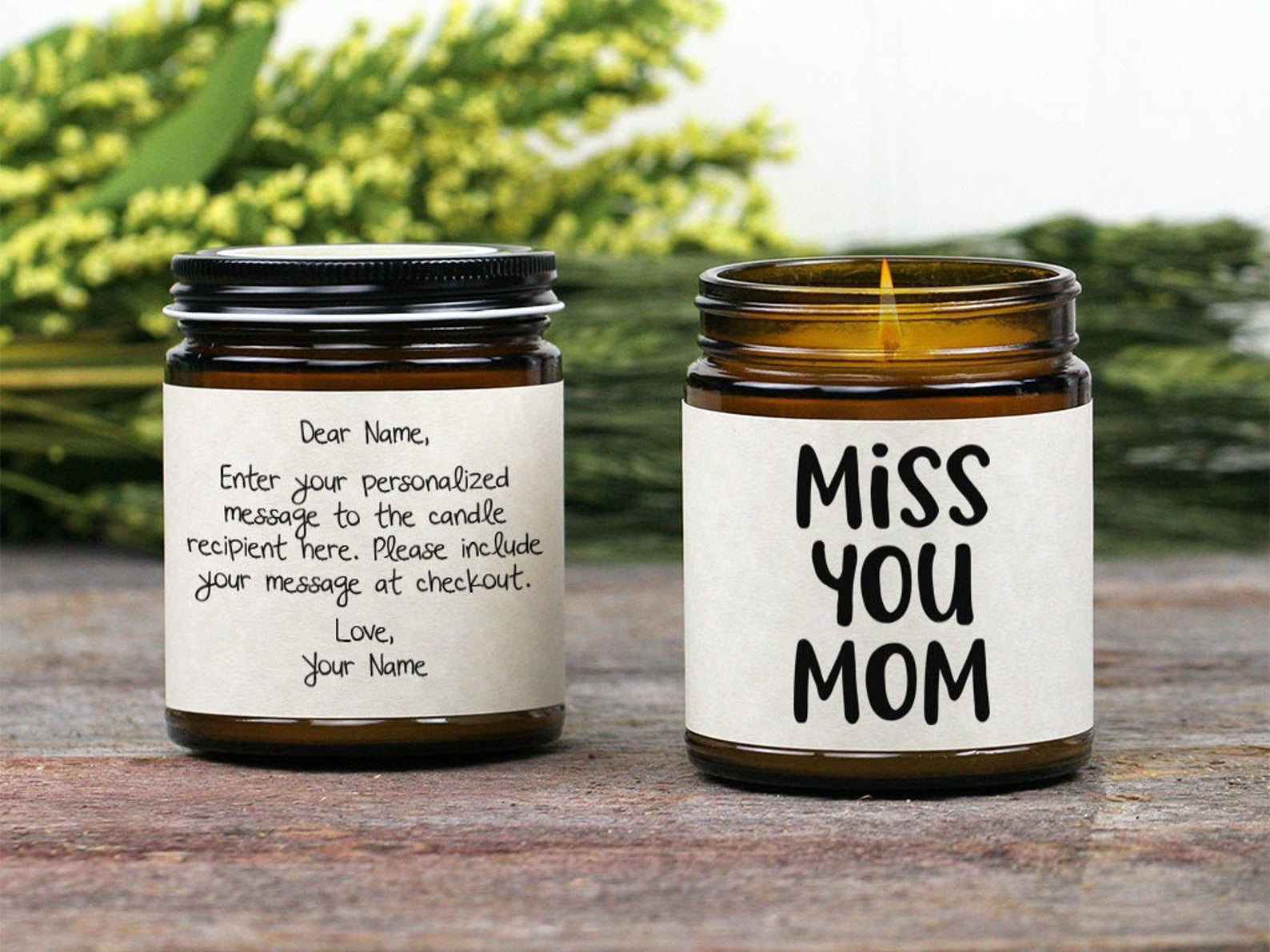 Miss You Mom Candle