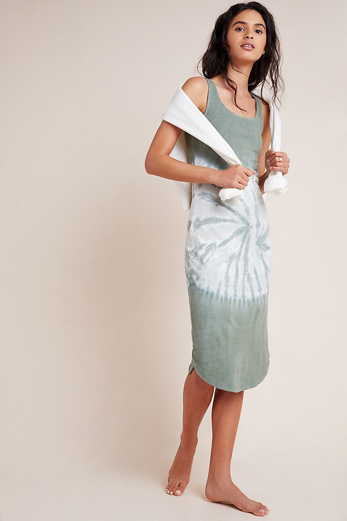Aloe Tie-Dye Dress Midi Dress