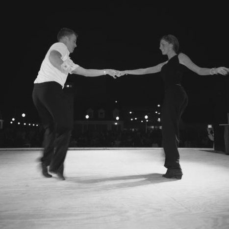 Couple Dancing the Shag in Myrtle Beach, SC