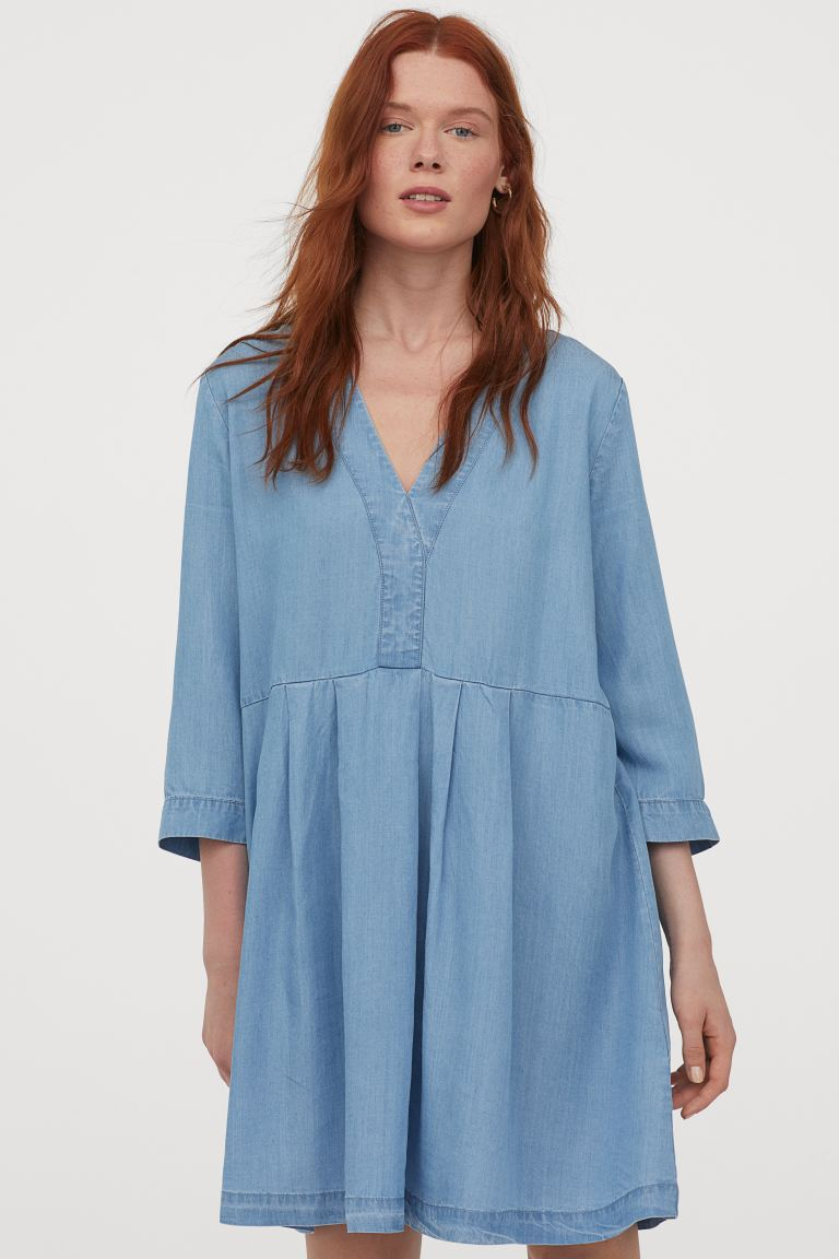 Light Denim Lyocell Dress