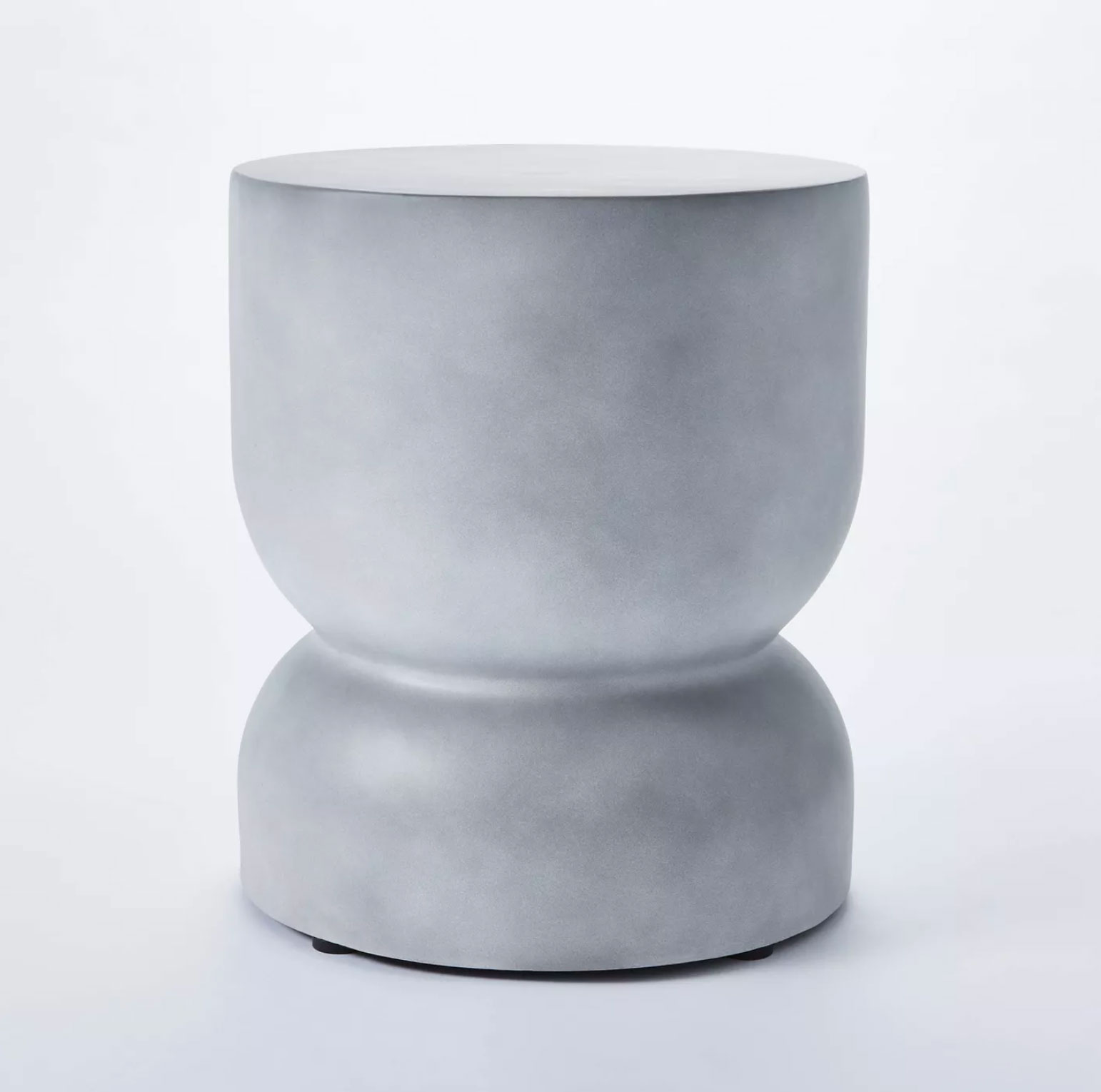 Threshold Palisades Hourglass Concrete Accent Table