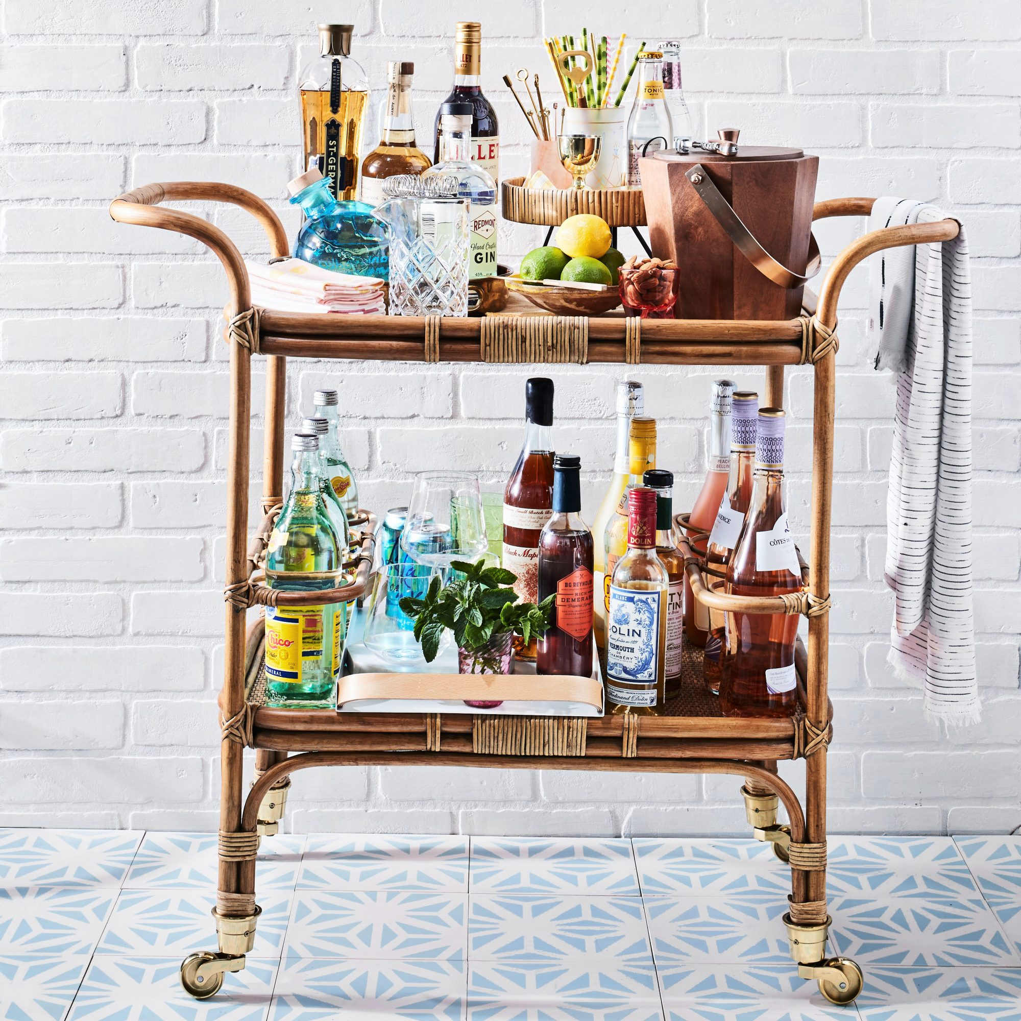 Fully Set Bar Cart