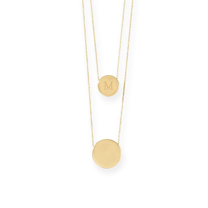 Mark & Graham Gold Medallion Necklace