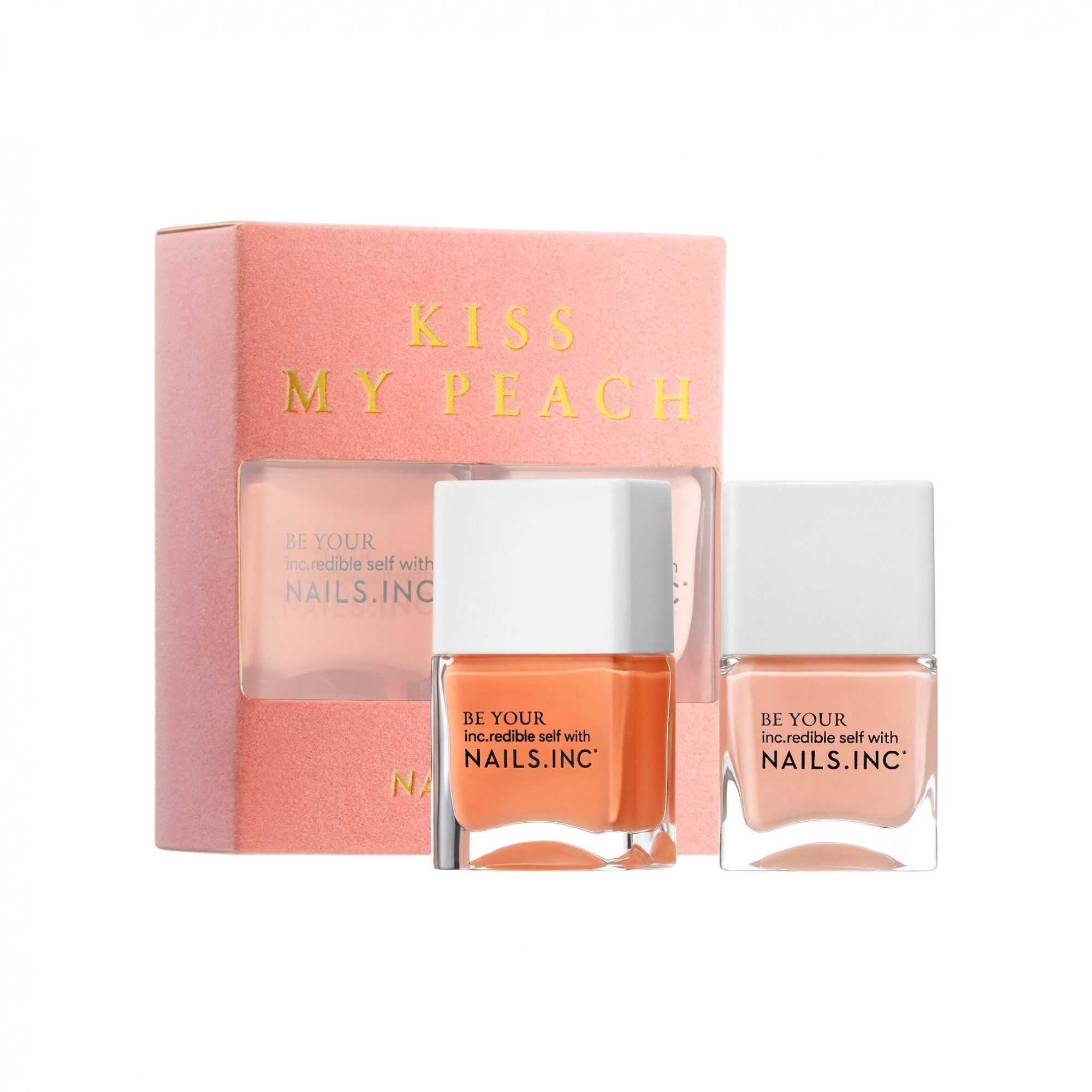 Nails Inc Kiss My Peach Duo Nail Set