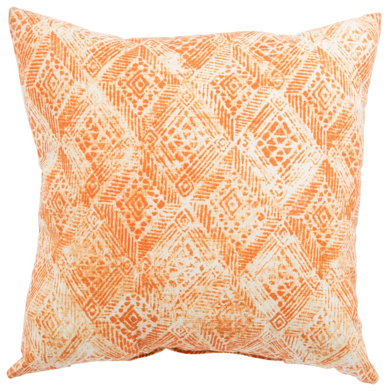 Brighten up blank spaces with this vibrant ikat-printed pillow.                                       BUY IT: $25; perigold.com