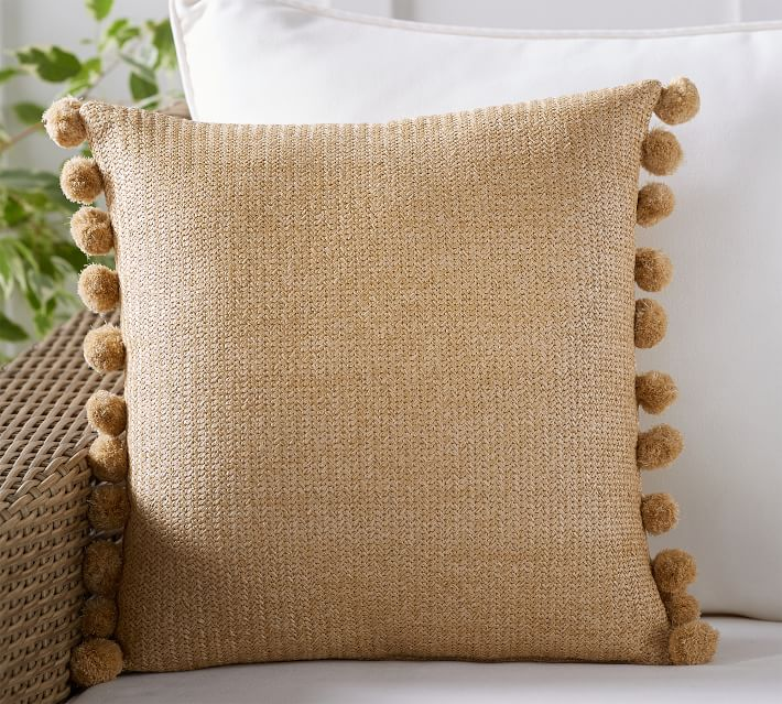 Play up coastal style with these woven natural throw pillows.                                       BUY IT: $34; potterybarn.com