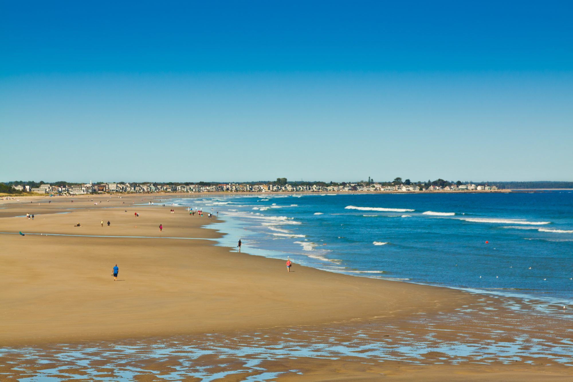 HDR image (photorealistic) of the Ogunquit Beach, Maine.