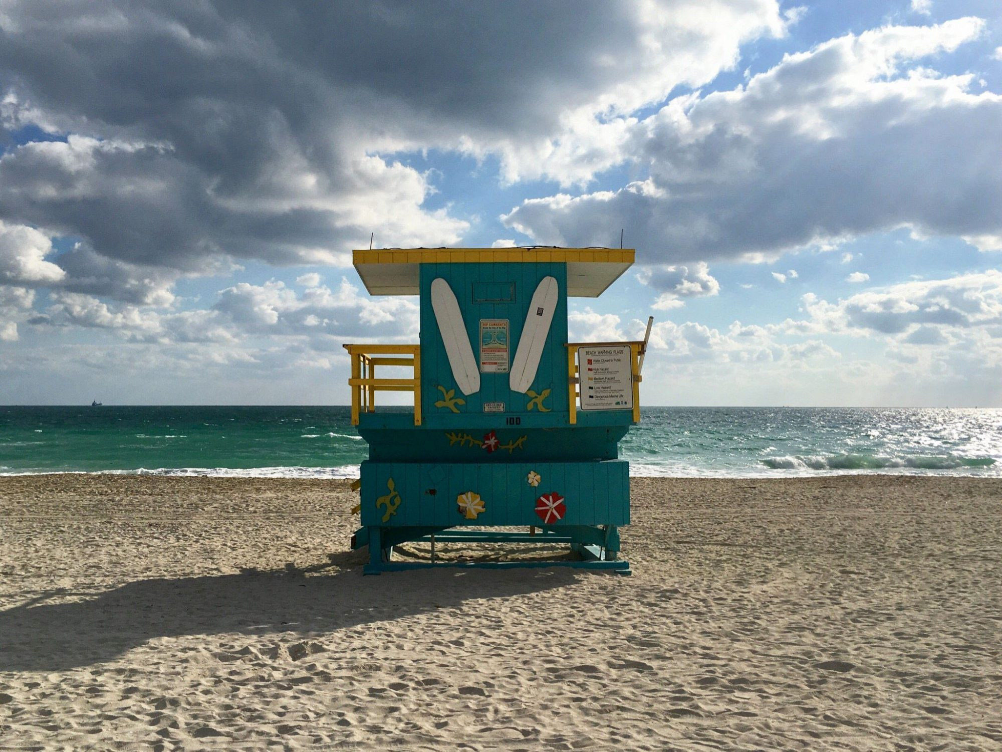 This trendy Miami Beach neighborhood has a carefree, friendly spirit, with a large beachfront park and endless Atlantic views. Its wide beaches are stunning, but the surfing here is also excellent, especially from July to November.
