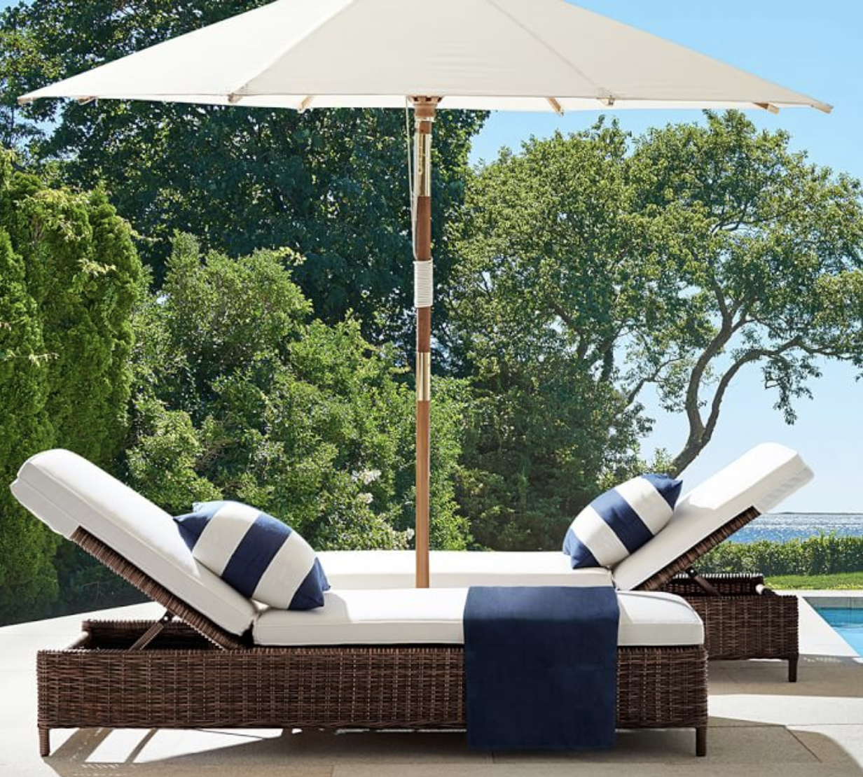 Torrey All-Weather Wicker Single Chaise Lounge, Espresso