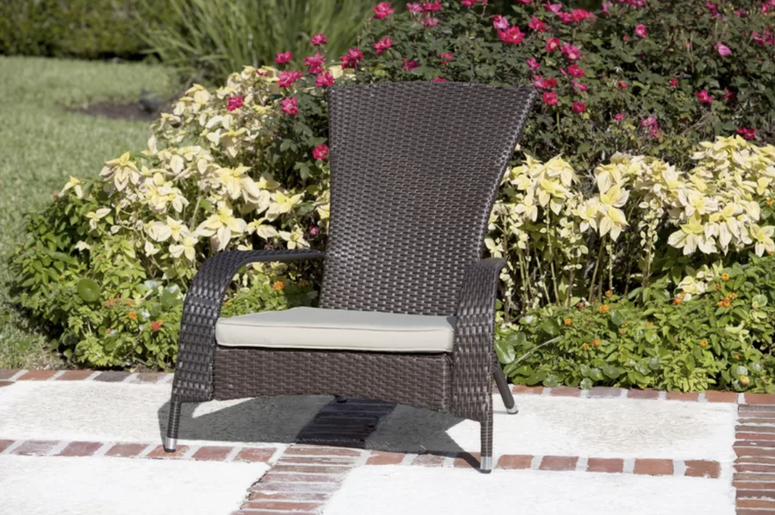 Mitchem Adirondack Patio Chair with Cushions