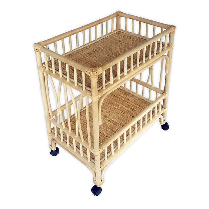 Global Caravan Marari Rattan Cart in Natural