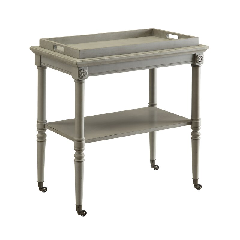 Folk Tray Bar Cart