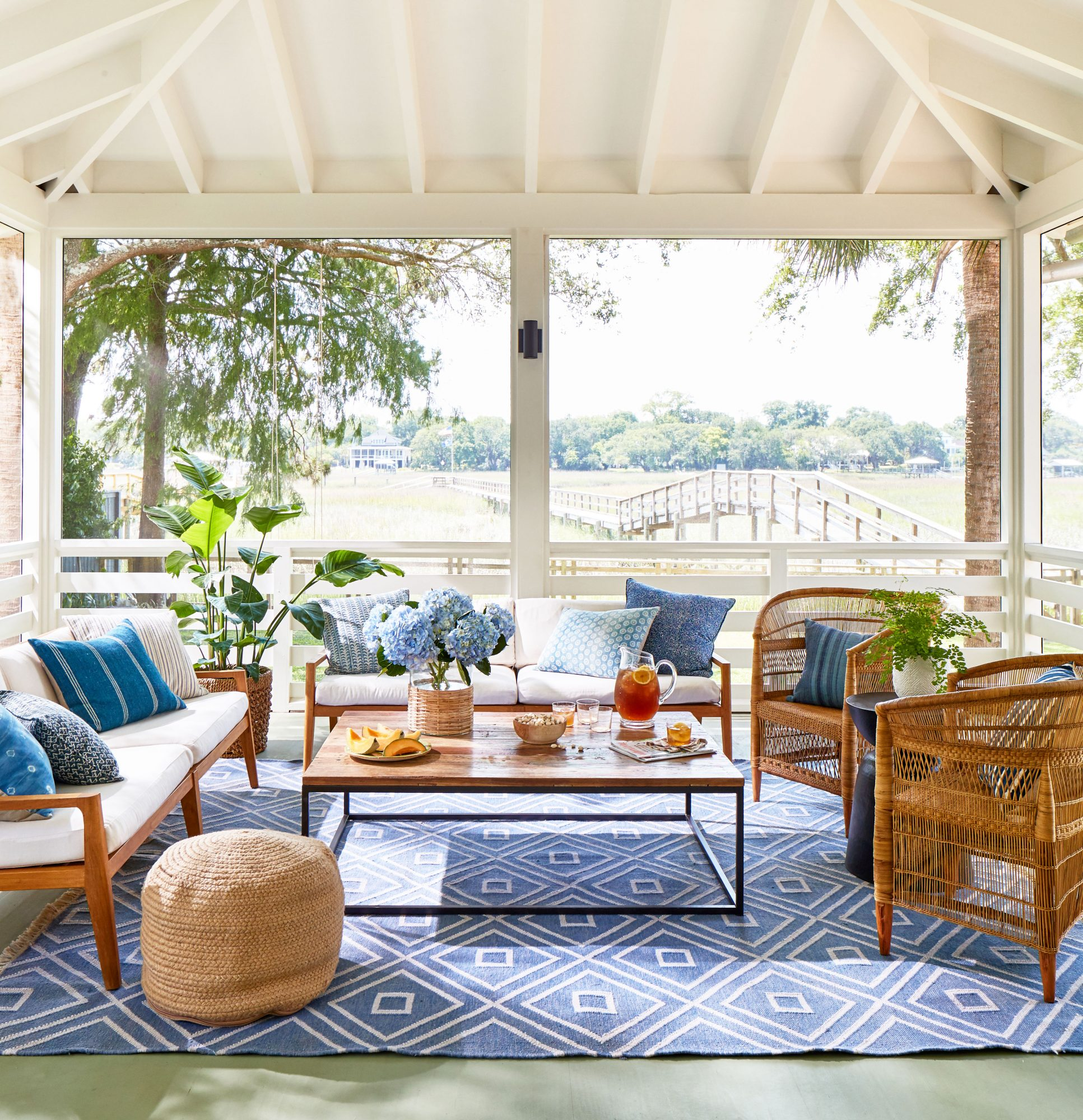 Blue and White Porch off Marsh