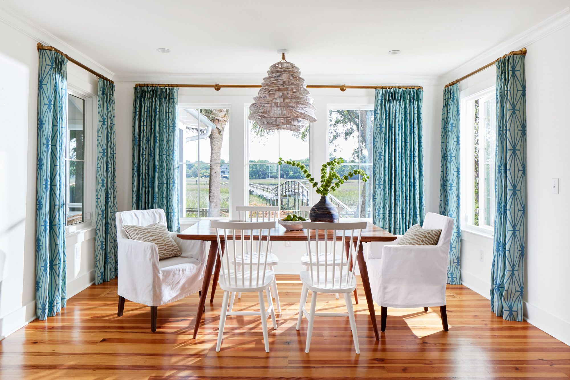 Casual Dining Room with Marsh View