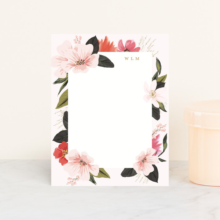 Floral Note Personalized Stationery