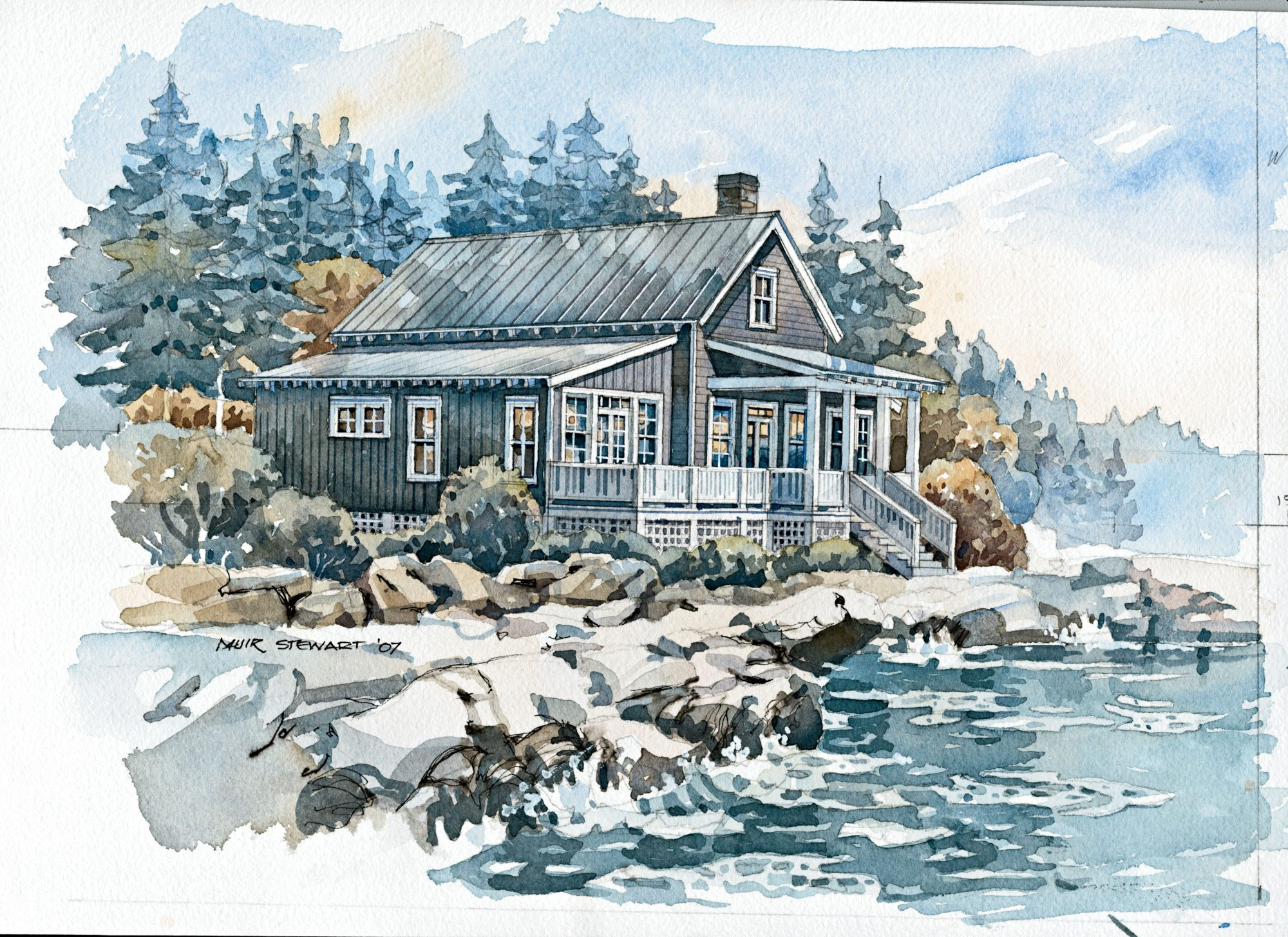 This three-bedroom cottage is as at home on the shores of a cool mountain lake as it is by the sea. The master bedroom boasts a private deck, ideal for sunset-watching.                             Starting at $760; SL-1059