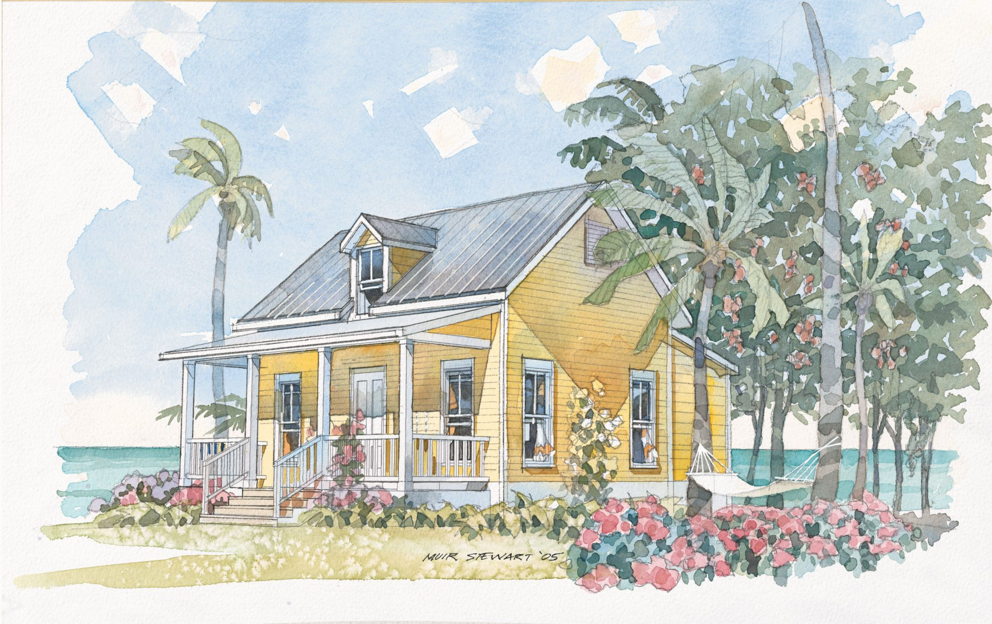 A charming gabled roof and gracious front porch make this bungalow ideal for an ocean-front retreat for two.                             Starting at $635; SL-1117