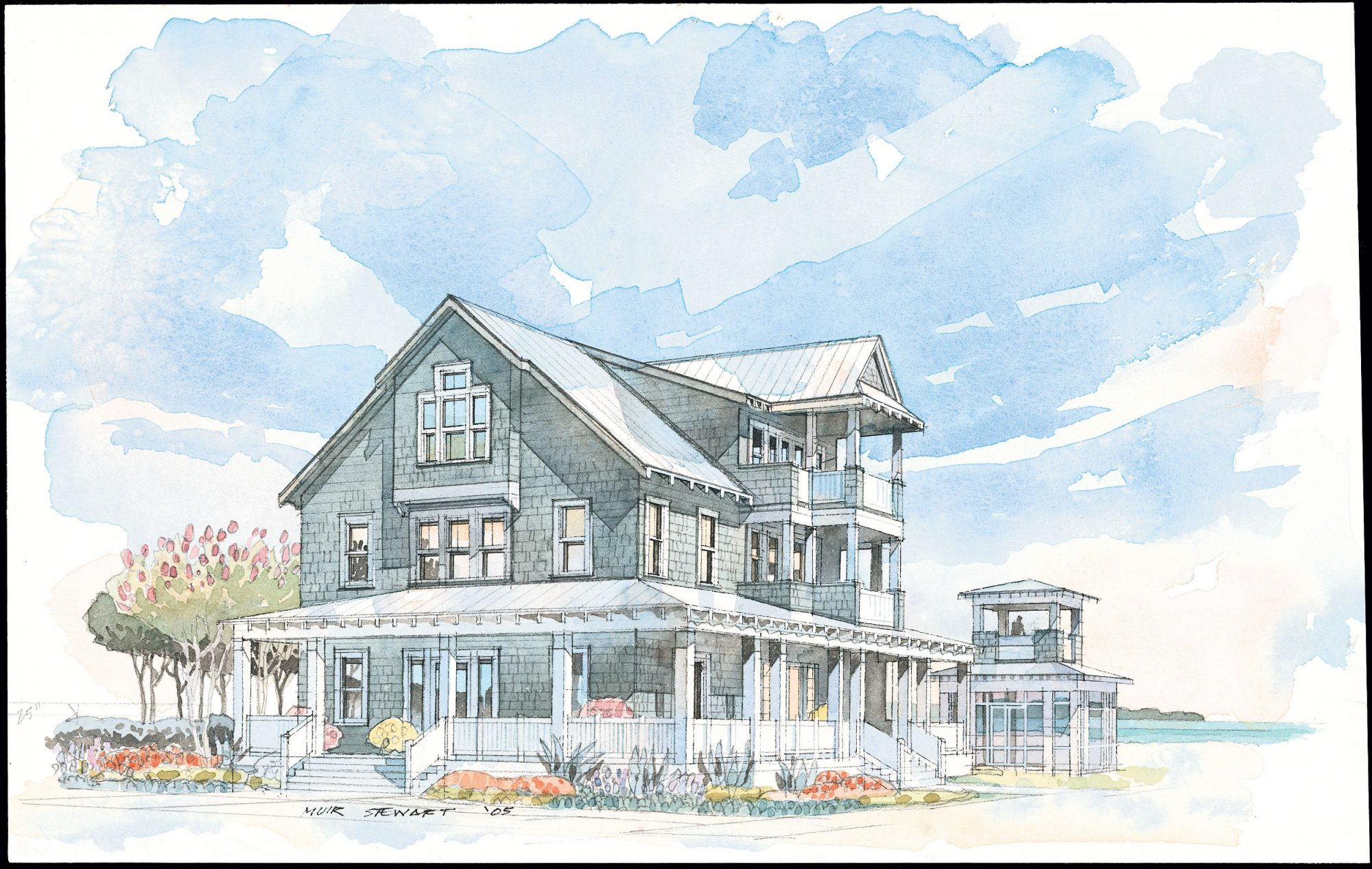 """Drawing its design roots from the """"Tidewater Shingle"""" style, this traditional home combines a refined sense of place with a simple, livable floor plan.                             Starting at $1,800; SL-1240"""