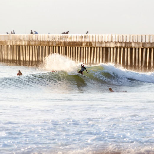With three miles of beautiful beach, Sebastian Inlet is a prime spot for surfers. Where to catch the biggest ride? Monster Hole, a break created by a man-made sandbar, can hold a solid 10 feet of surf.                             Where to Grab Gear and a Lesson                             Located up the street in Melbourne Beach, Florida,Catalyst Shop(@catalystmb) is the best stop for boards, surf accessories, and apparel. Sebastian Inlet Surf and Sportalso provides lessons and surf gear.