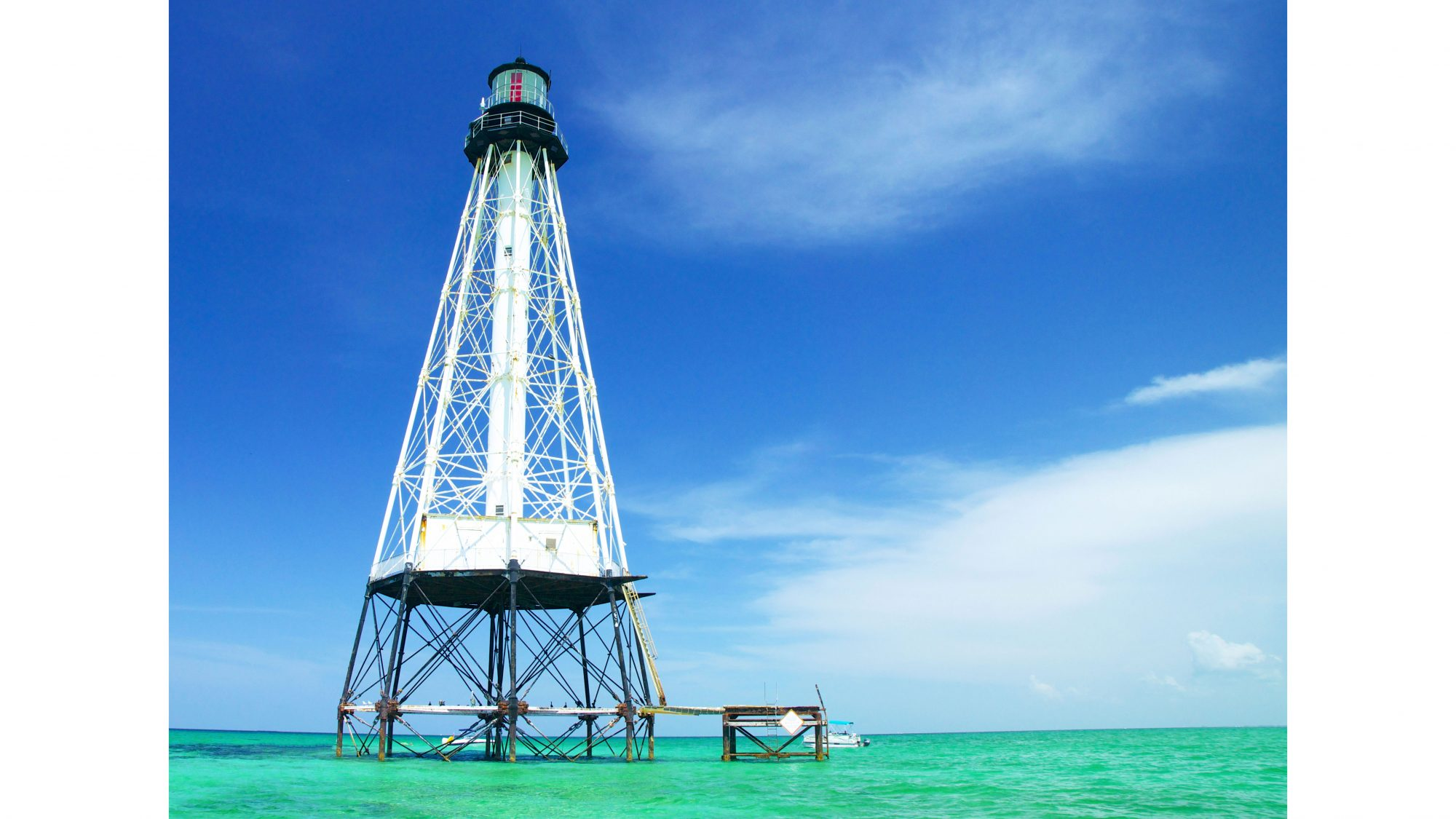 Visitors of Islamorada are just a charter boat ride and three watery miles from the historic Alligator Reef Lighthouse, where snorkelers can find hundreds of species of marine animals, including parrotfish, barracuda, rays, and turtles in an average depth of 20 feet.