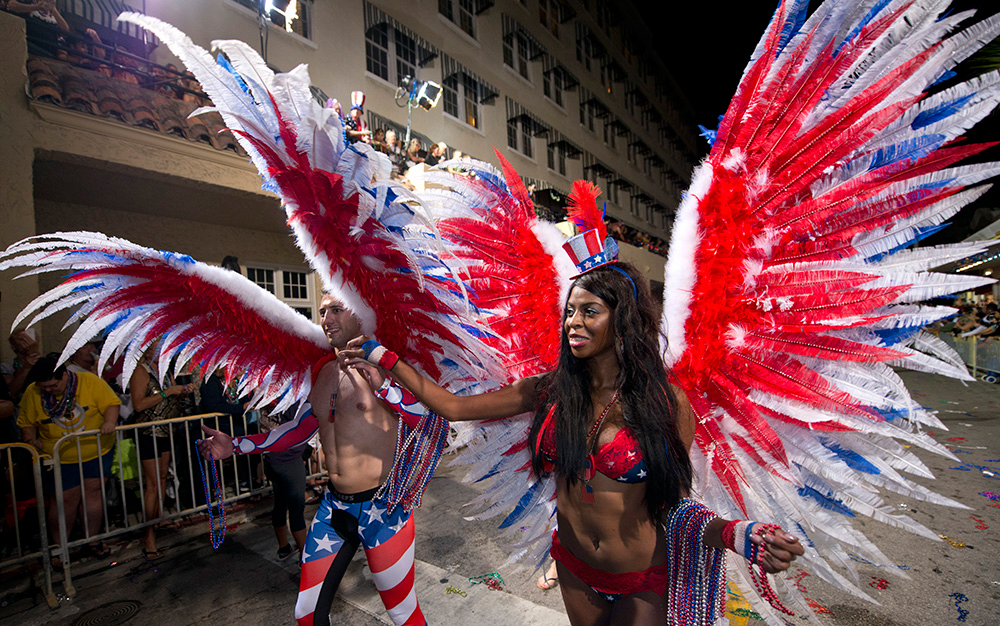 It's completely acceptable to wear costumes year-round in Key West. But the atmosphere gets extra festive during the annual 10-day Fantasy Fest every October. More than 50,000 costumed revelers descend to Duval Street for a flamboyant parade and party.