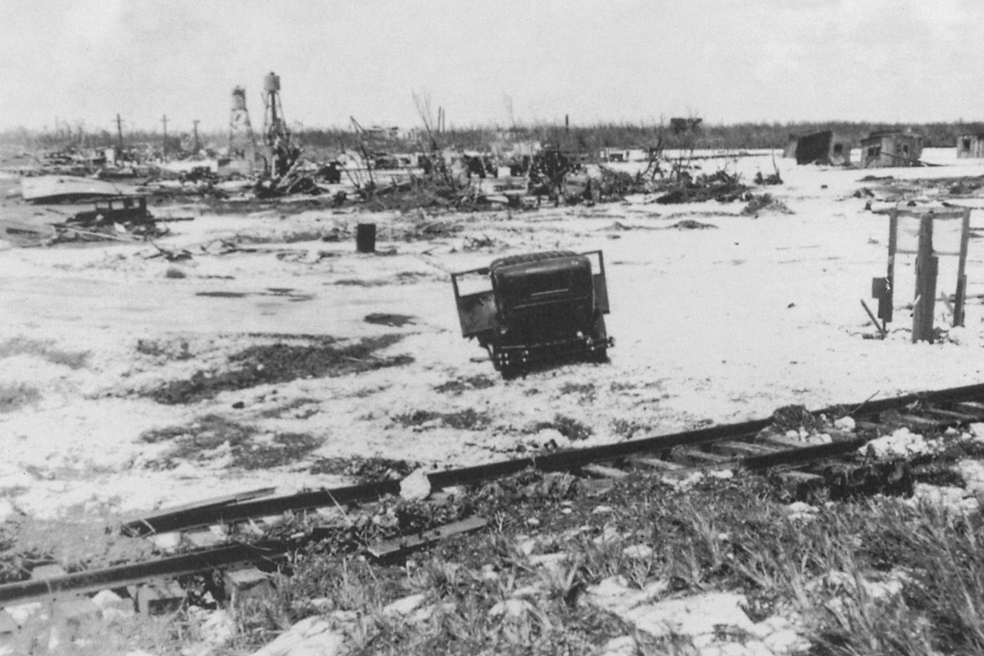 This holiday hurricane was a most unpleasant surprise: The storm, which tore through the Keys on September 2, 1935, with 185 mph winds and a storm surge of more than 20 feet, had been only a Category 1 hurricane the day before when it spun across the Bahamas. By the time it got to the U.S., the hurricane had changed its initially mellow tune for something far more sinister.