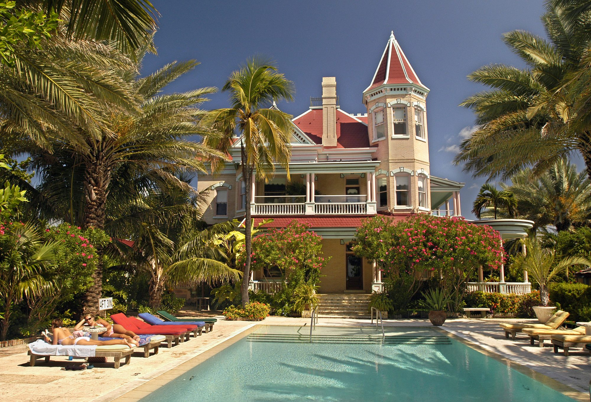 Near the end of the 19th century, wealthy business owners began constructing pastel-colored Victorian mansions that many today describe as Key West-style architecture. Spend the night in one of these historic homes and book a room at the Southernmost Hous