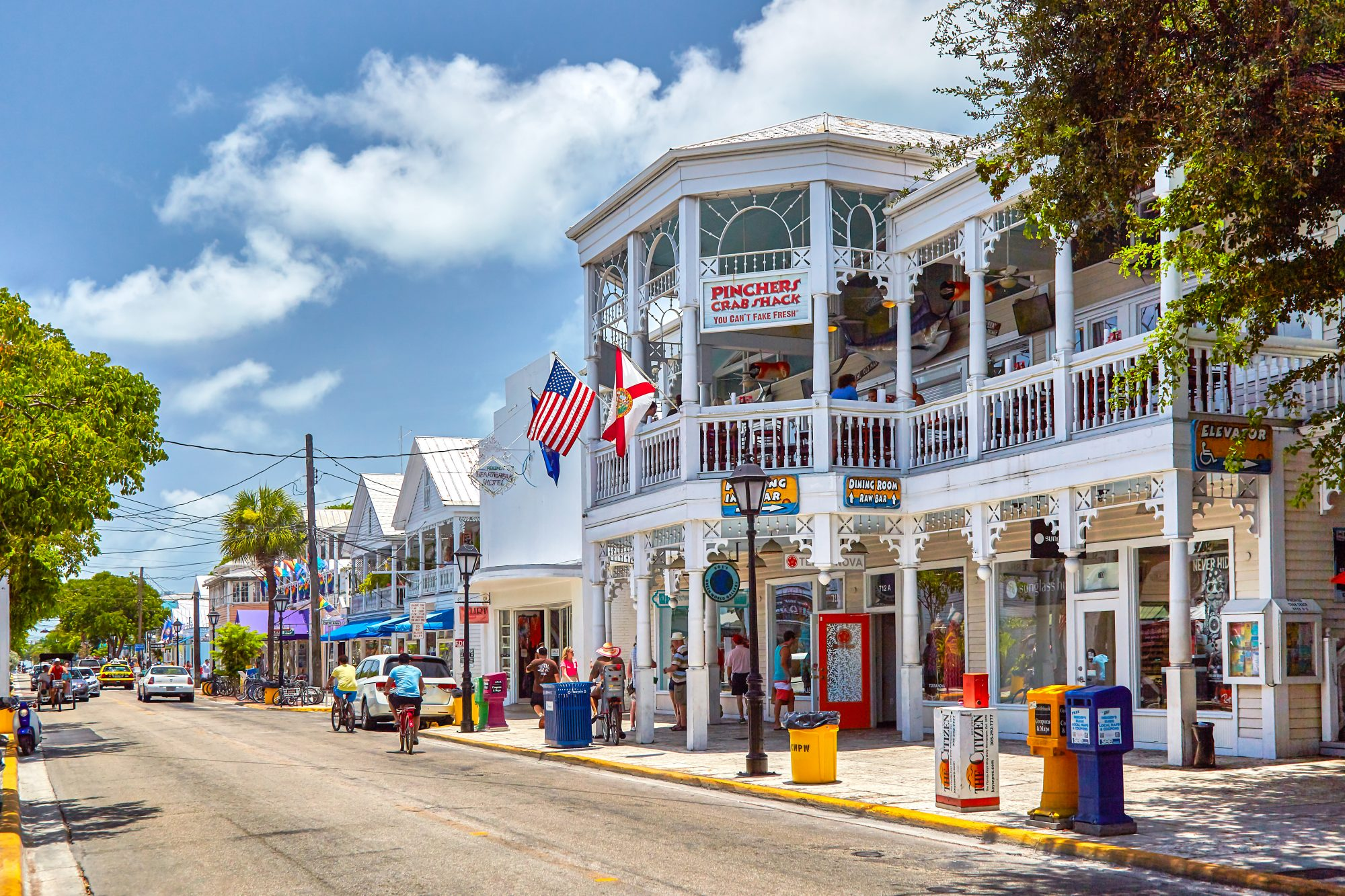 Whether you're in the market for a mini buoy modeled off of the Southernmost Point, or a slightly offensive, only-in-Key-West statement T-shirt, there are plenty of souvenir shops that line Duval Street. Or check out one of the elegant local boutiques lik