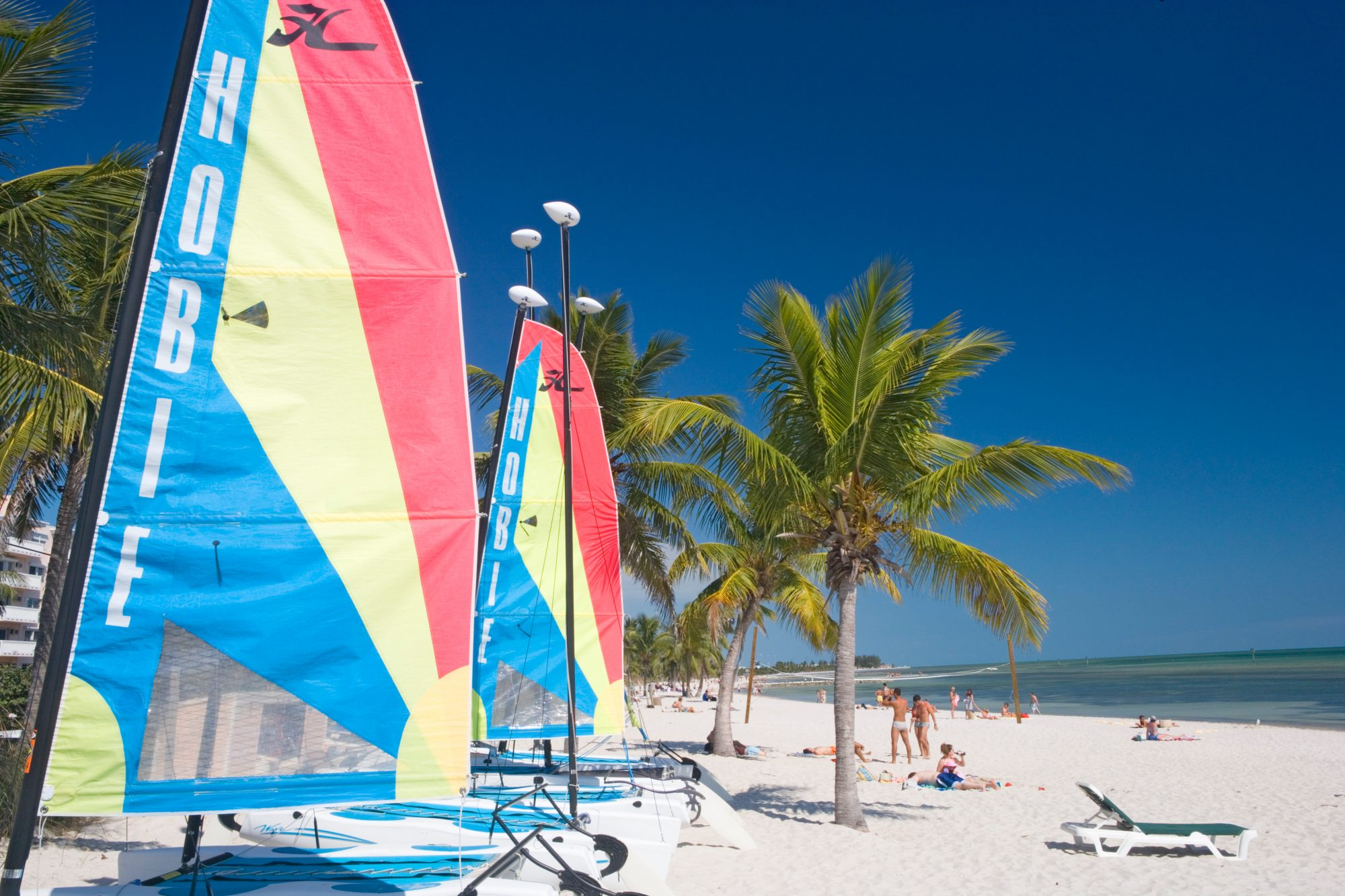 Play a game of sand volleyball, splash in the aquamarine water, take out a mini sail boat or just lounge in the sand. Smathers Beach has it all. Sunset Watersports Key West offers chairs, umbrellas, rafts, and more starting at $10 per day.