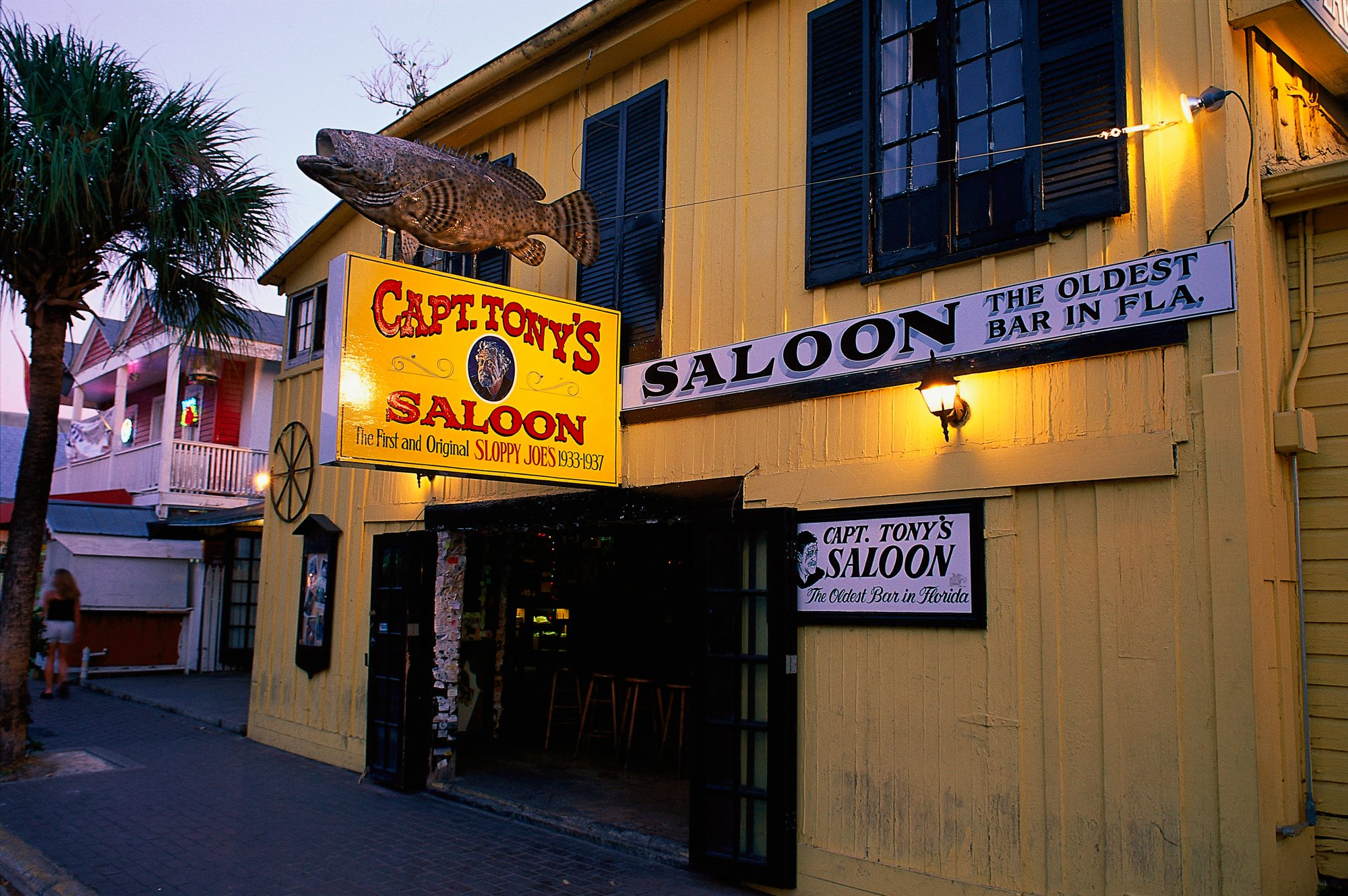 It's no secret that Key West is home to an impressive share of eclectic watering holes. There's no better place to start your bar hop than Captain Tony's Saloon. Originally opened in 1851 as an icehouse that doubled as a morgue, this old-school pub has attracted the likes of Ernest Hemingway, Tennessee Williams, Jimmy Buffett, and, of course, the legendary Captain Tony himself.