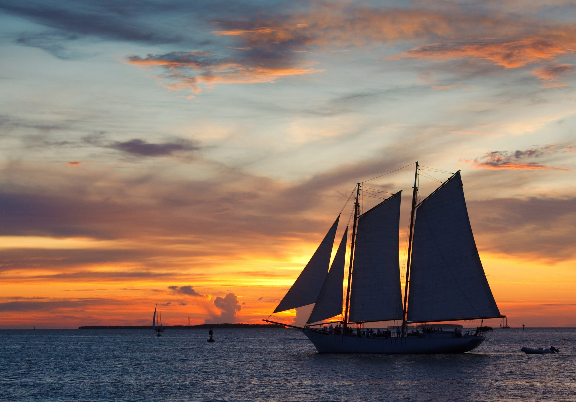 Key West is famous for its dazzling sunsets, so set sail for an evening that's steeped in equal parts tradition and natural beauty. Fury Key West offers a variety of sunset cruise options from romantic champagne-style trips to lively rum and reggae parties. Excursions start at $40 for adults and $20 for kids.