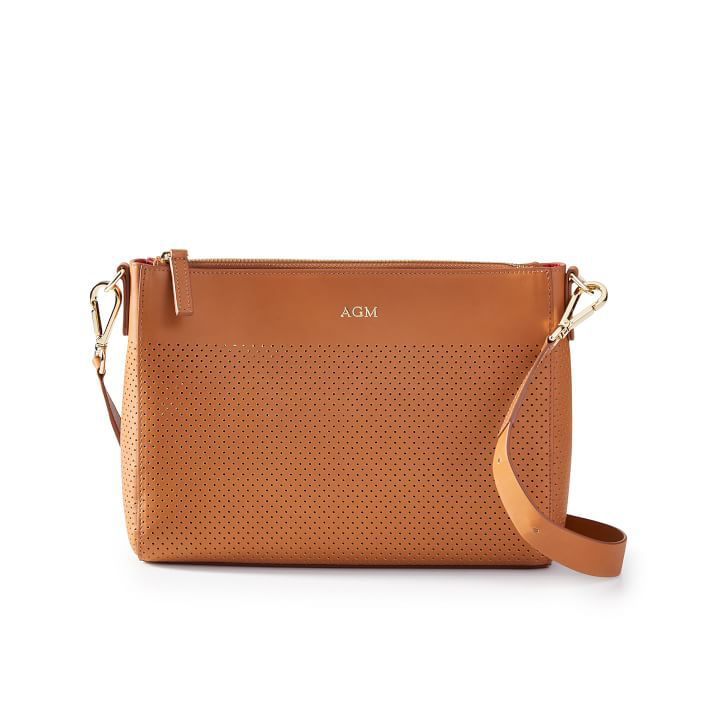 Perforated Leather Crossbody