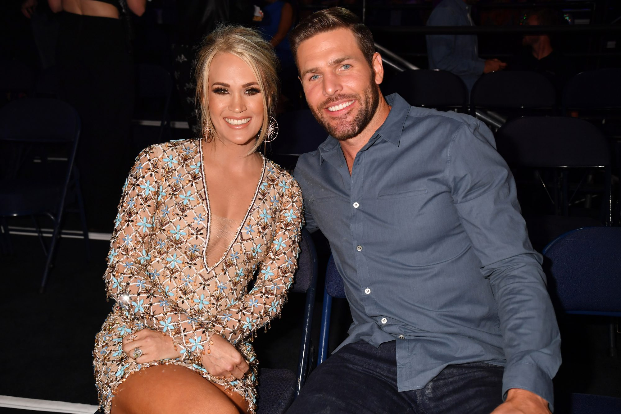 2019 CMT Music Awards - Backstage Carrie Underwood and Mike Fisher