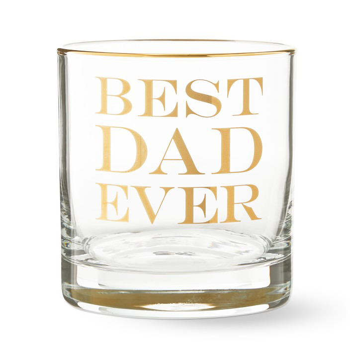 Best Dad Ever Double Old-Fashioned Glass