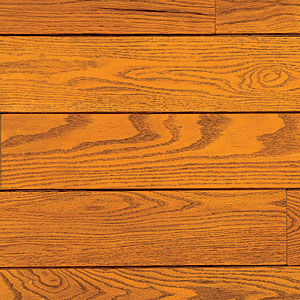 There's a reason this hardwood flooring is popular—it's both affordable and highly scratch resistant, and its less porous surface reacts well to stains and paints, so you can customize the look.