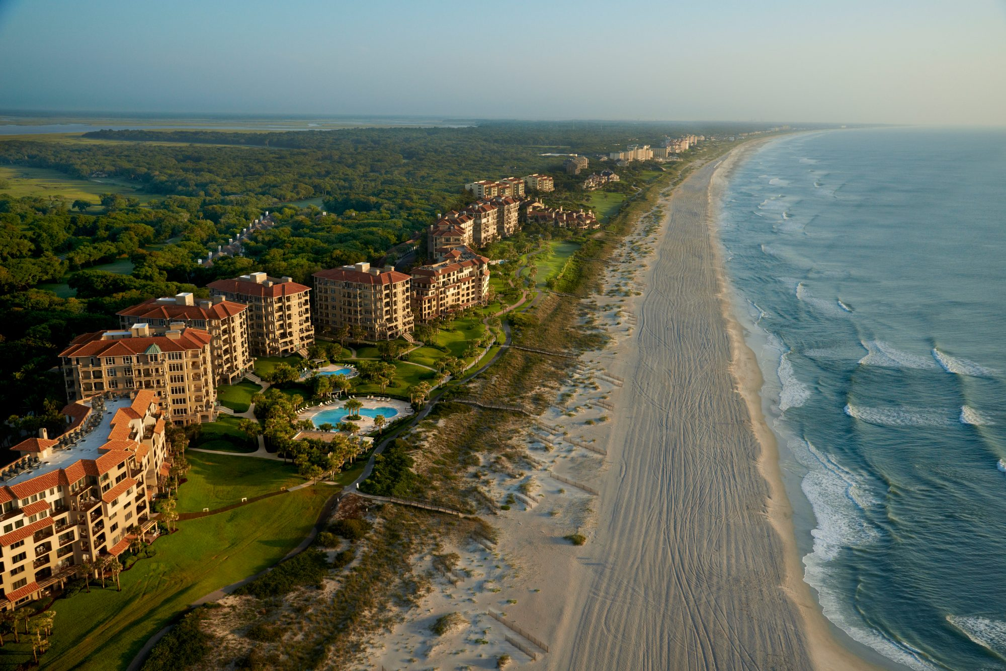 Featuring the largest beach on our list, Omni Amelia Island Plantation Resort sports a three-and-a-half-mile private stretch of sand at the tip of Florida's northernmost island. Famous for its Southern charm and natural beauty, Amelia Island is a playground for nature lovers, and this hotel showcases the best of the area. Go fishing, kayaking, boating, swimming, shopping, golfing, and more. And make sure you score a golf cart because it's the best and most scenic way to cruise around this expansive 1,350-acre resort. 39 Beach Lagoon Road, Fernandina Beach, FL 32034