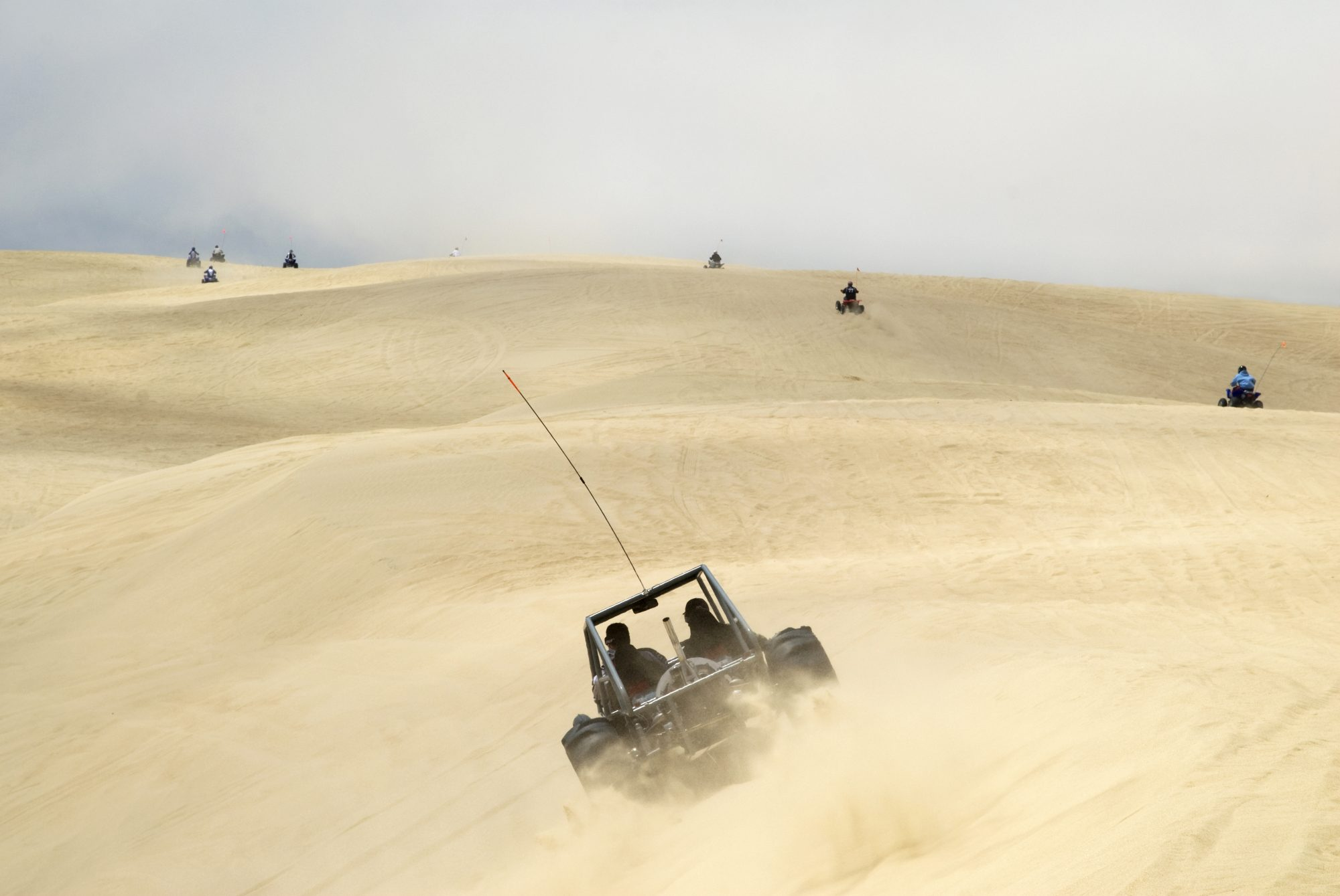 It may come as a surprise that California — known for its car and beach culture — has but one beach where it's legal to drive. Officially the 'Oceano Dunes State Vehicular Recreation Area,' this 5.5-mile stretch of coast near Pismo Beach is also a rarity in that you can drive on the towering sand dunes behind the beach as well, an activity that's usually strictly forbidden elsewhere. Both cars and dune buggies can be driven here (four-wheel drive recommended), and camping and horseback riding also are permitted.
